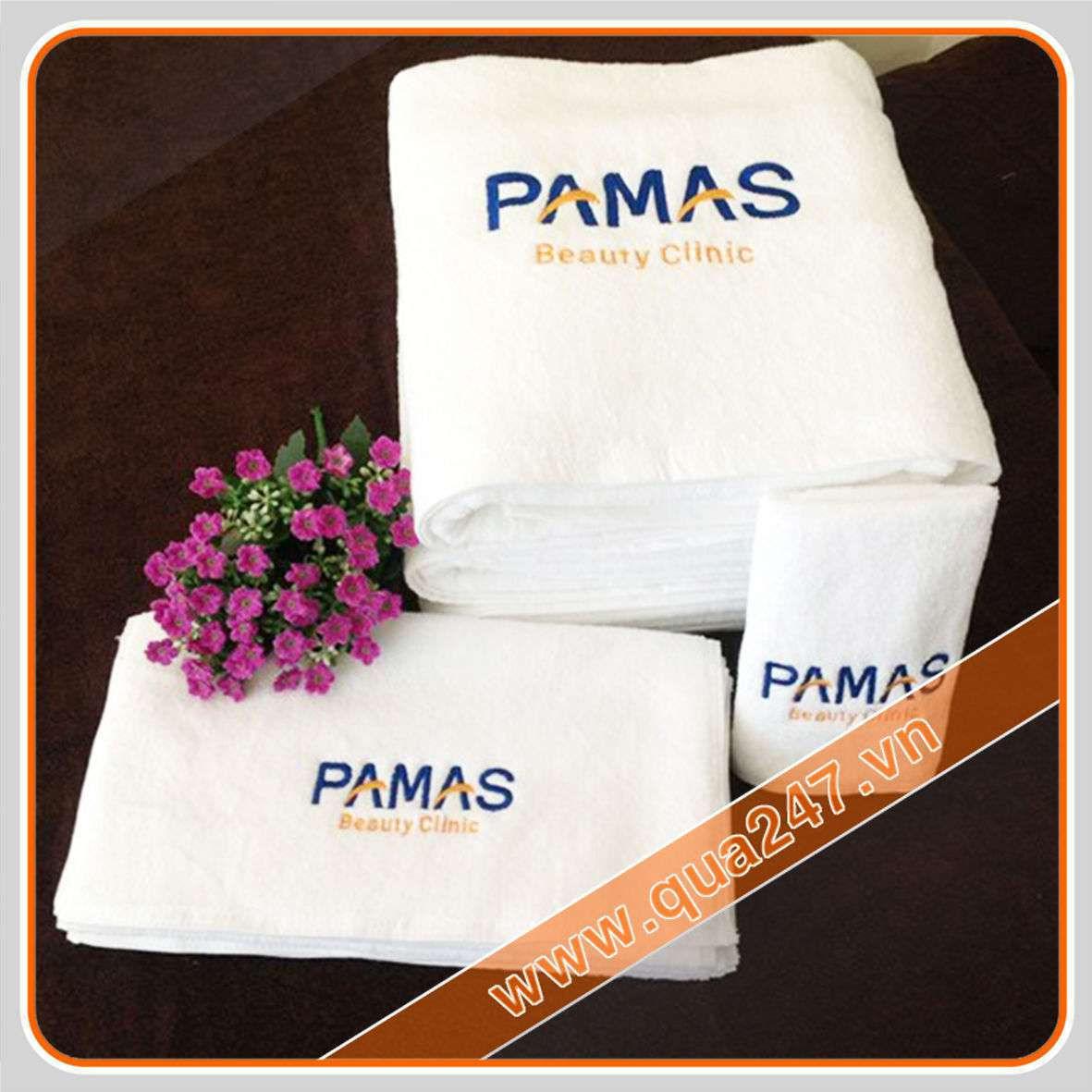 in logo lên quà tặng khăn tắm